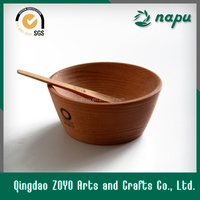 Wood Bowl And Spoon,Set Of 2