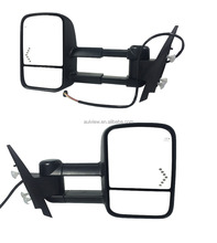 Aulview 07-13 Silverado Tahoe Pickup Towing Mirrors Set Tow Power Heated Arrow LED Signal Pair