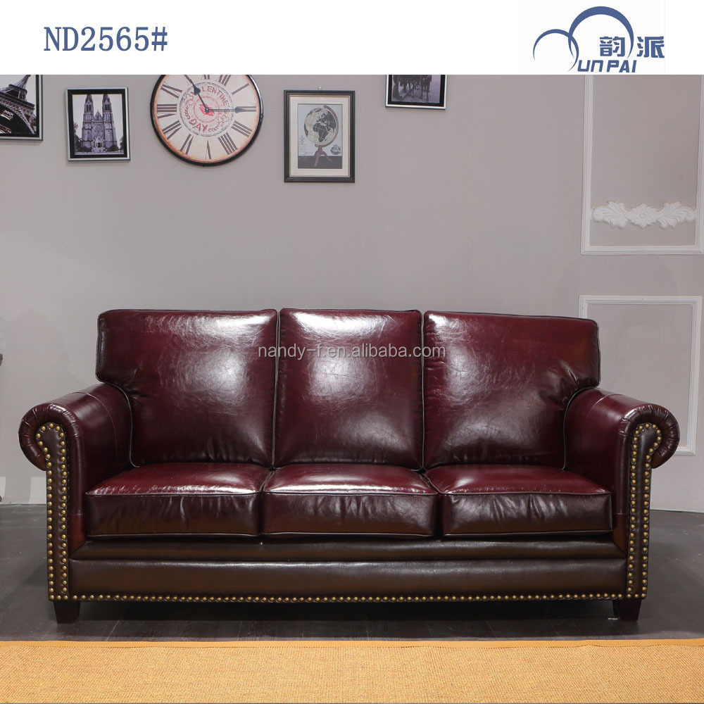 American Classic Style Latest Leather Sofa Set Design For Living Room