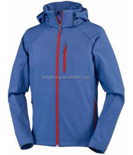Men hooded fleece lined softshell jacket for outdoor LS-233