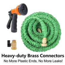 brass connector expandable garden hose