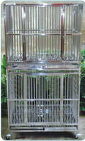 BD610 stainless steel dog cage with wheel