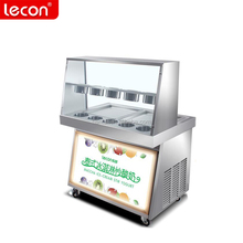 Factory direct sale thailand rolled ice cream machine with square/round pan for sale