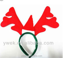 Christmas antlers & Red cap head buckle Christmas headband for Christmas