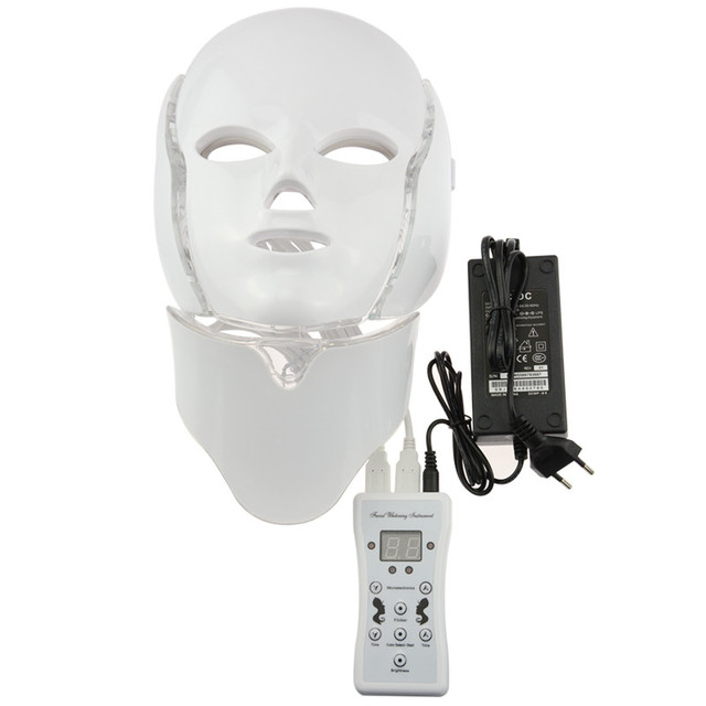 7 Colors photon Light therapy Face and Neck multifunction led mask