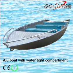 Aluminum boat with water tight compartment