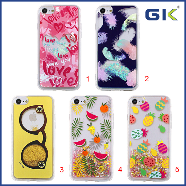 [GK] Fashion With Colorful Pattern Liquid TPU Phone Case For iPhone 7 Cover