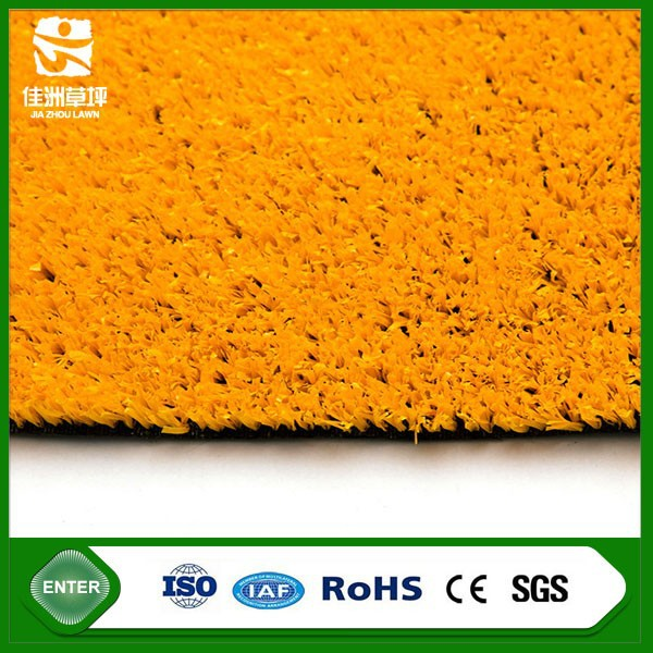 fifa 2 star turf orange nice color artificial grass wall turf for gym exercise courts