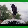 Quality Products hunting fish eagle brass sculpture