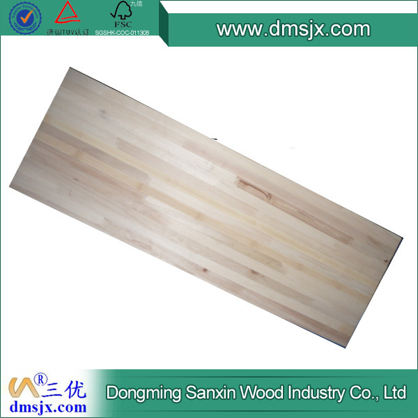 Poplar wood plank for construction