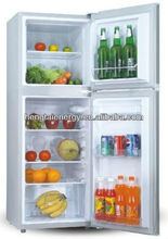 158L for meat and fruit with sliding door solar fridge refrigerator and freezer