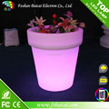 Led PE high quality flower pots