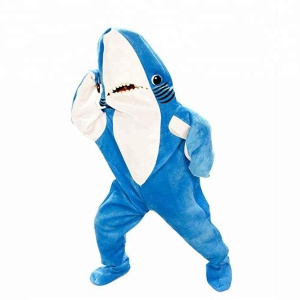 Halloween Blue Shark Mascot Costume Animal Cartoon Mascot Costume