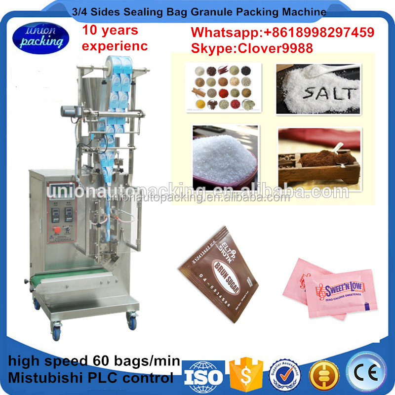 3/4 Sides Sealing Bag Granule Paching Machine,Sugar/Red Chilli/Pepper/Salt/Wheat Flour Packing/Filling Machine