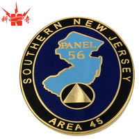 round metal hard enamel epoxy challenge coin supplies with souvenir area