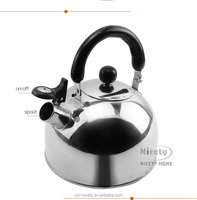 european type stainless stainless unique whistling camping tea kettle with handle
