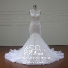 Alibaba one shoulder lime green wedding gown