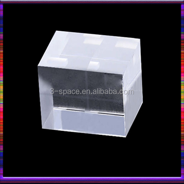 Wholesale square acrylic block cube customized solid stand