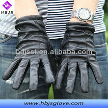 Sheep leather men's wool inside leather gloves