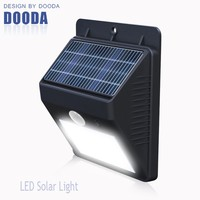 Color Changing 4 LED Waterproof Outdoor LED Solar Wall Light