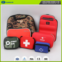 China manufacture first aid kit for car home hotel workshop travel school CE FDA approval