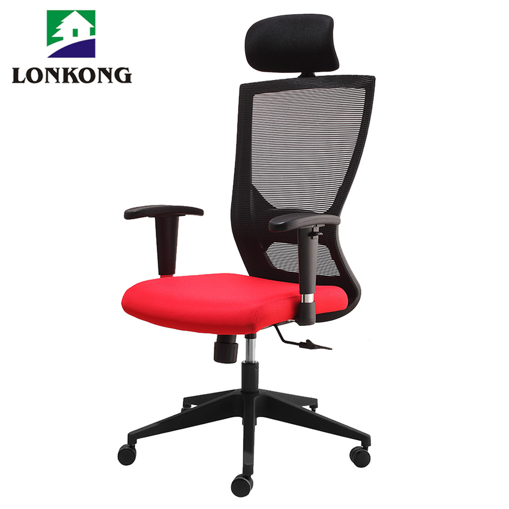 Secretary mechanism mesh office chair rainbow red mesh office chair
