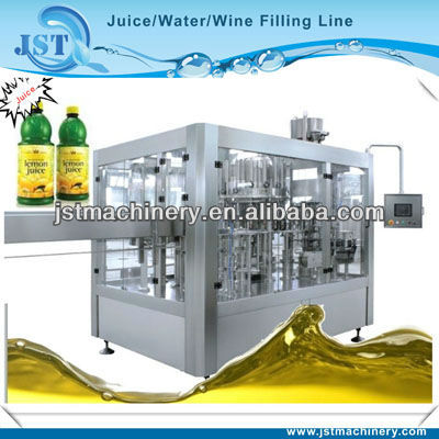 Automatic ice tea filling production line for glass bottle