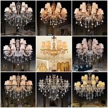 wholesale europe classic huge golden kristal crystal pendant candle chandelier light lamp lamparas for kichen