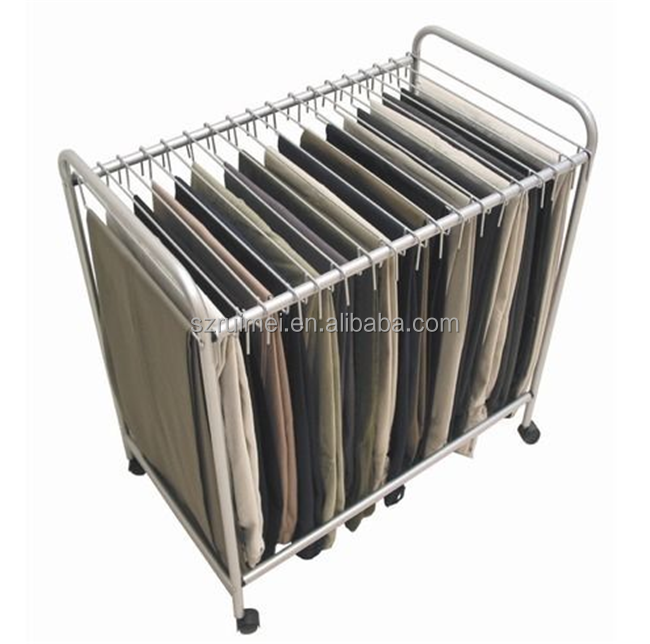 Latest Free Standing Sliding Detachable Trousers Rack