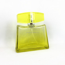 Customized colored glass perfume bottle with pump