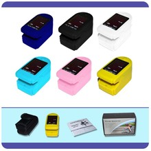 FDA CE Approved Finger / Fingertip Pulse Oximeter, SPO2 Monitor, 6 colours Optional, With Carrying Case