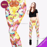 digital print 3D print sexy leggings girls pics black leather girls legging pants