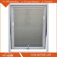Australia standard double glass aluminium awning windows with built in blinds
