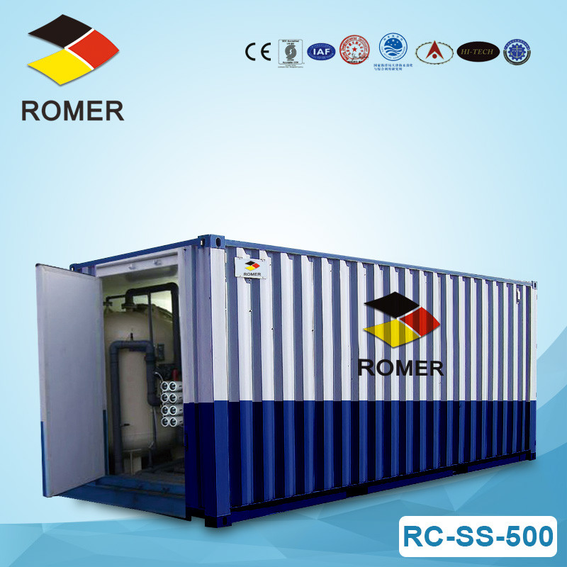 Containerized ro water treatment plant RC-SS-500 500000 LPD Disaster emergency fresh water supply