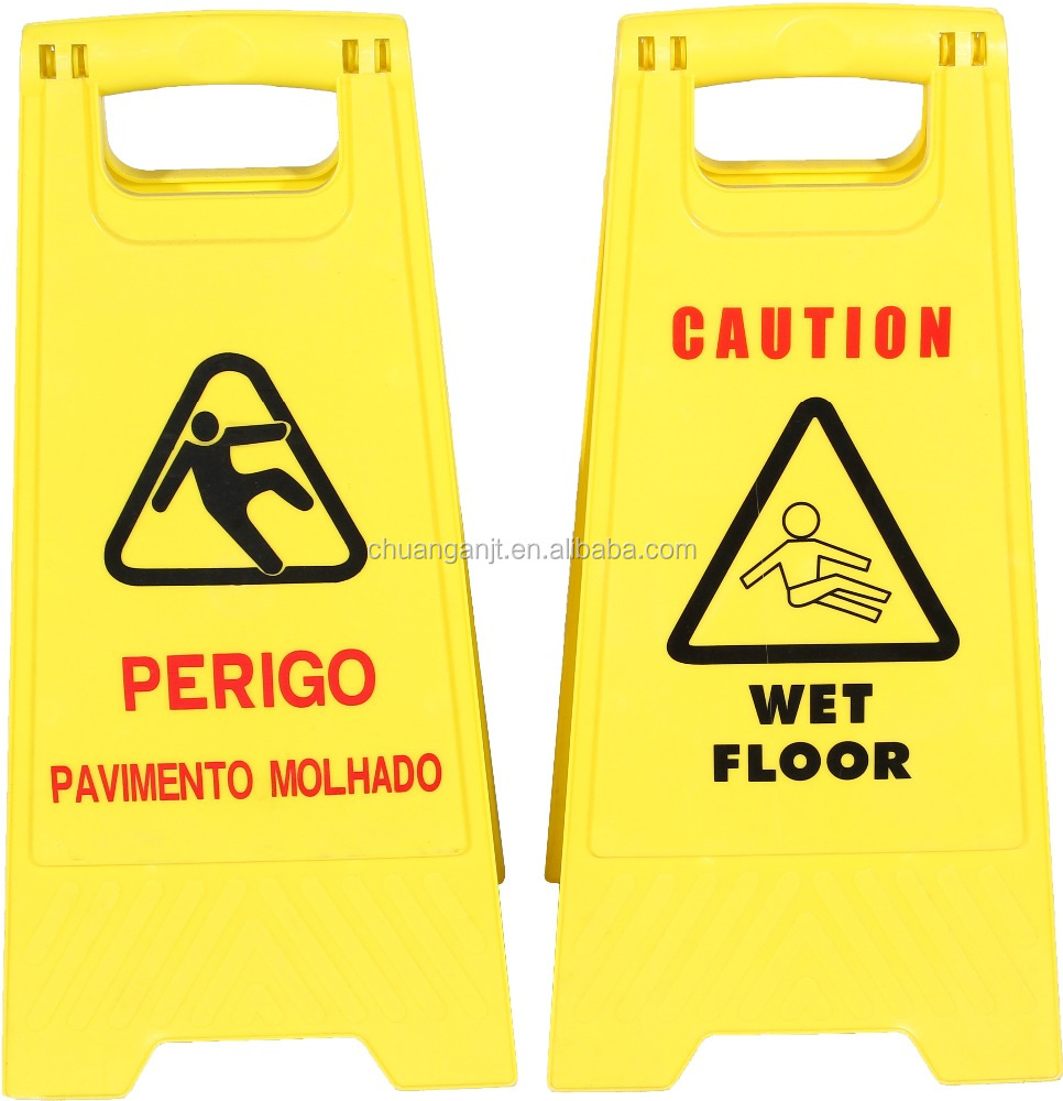 Customized Good Quality Yellow Road Work Plastic Sign