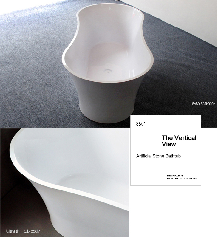 Man-made stone indoor sex tub in bath