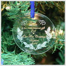 Delicate Bevel Round Design Pendant For Christmas Guest Gifts