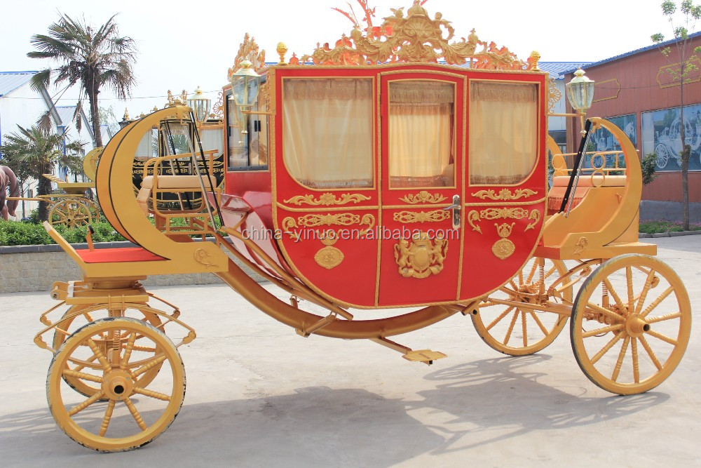 Yizhinuo red Royal vehicle/wagon Horse drawn carriage