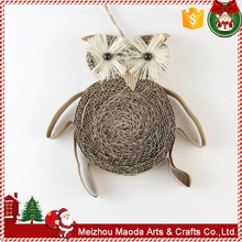 Handmade owl paper christmas outdoor decorations