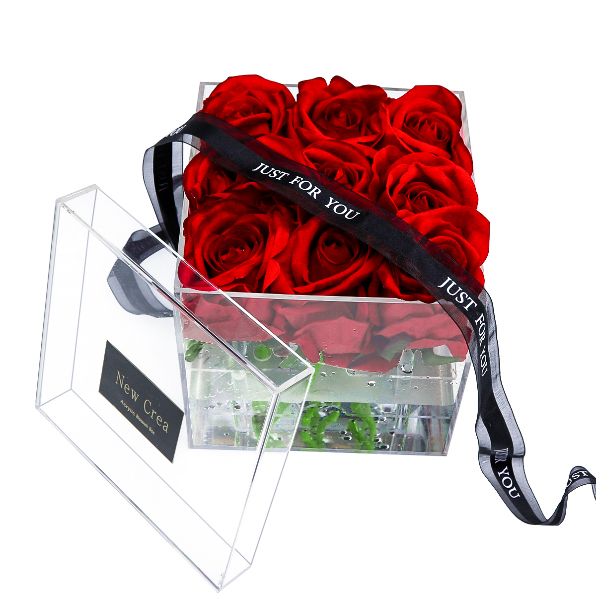 Acrylic Rose With Drawer Design Wholesale Acrylic Flower Box