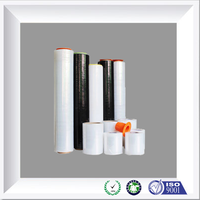 Clear/black HDPE/LDPE/LLDPE plastic stretch wrapping/packing film on roll
