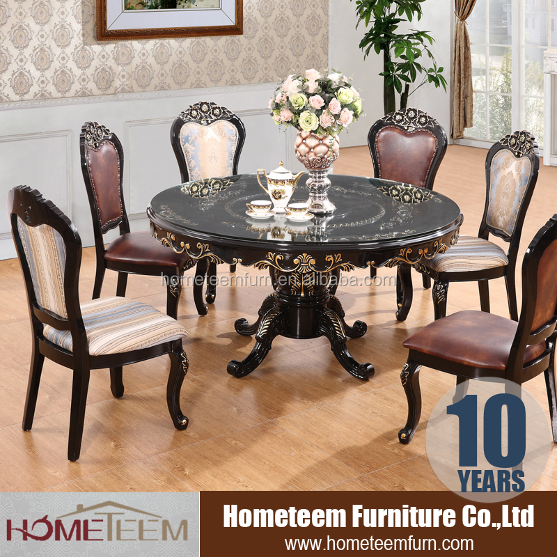 chinese restaurant big round glass dining table set