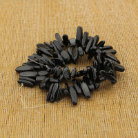 SB6478-34 Hot sale long chip dagger tooth onyx stones, natural gemstone beads