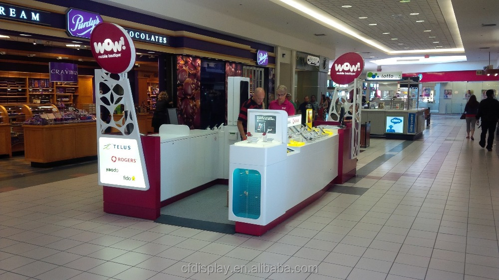 2017 Competitive Modern Mall Retail Store Cell Phone Accessories Kiosk