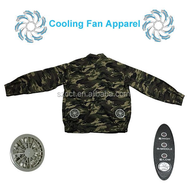 Manufacturers selling fan cool suit Air conditioning fan overalls Outdoor labor insurance clothing Summer clothes