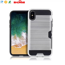 Shockproof Cover Case hard PC back with card slot phone case for iphone X