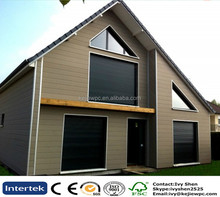 Wood Plastic Composite Wall Cladding Facade Panels Water Proof Anti-UV Exterior Timber Like Wall Panel