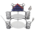 Hotel & Restaurant Suppies Stackable Buffet Caddy Dispaly Rack Serving Set Of 7 pieces