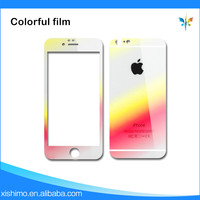 Cell phone color 9H anti shock tempered glass case for iphone6/6s screen protector