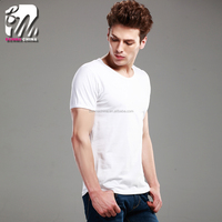 Summer good quality plain 95%combed cotton 5%Lycra couple t-shirt